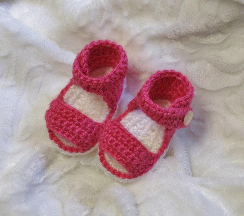 PATRON PDF No 50 Sandales au crochet pour bébés 0 à 12 mois image 0