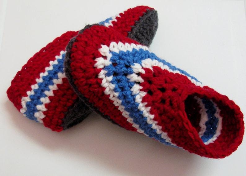PATRON PDF 14 Pantoufles au crochet pour adultes Canadiens image 0