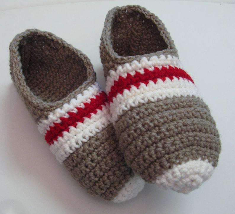 PATRON PDF 16 Pantoufles bas de laine au crochet pour femmes image 0