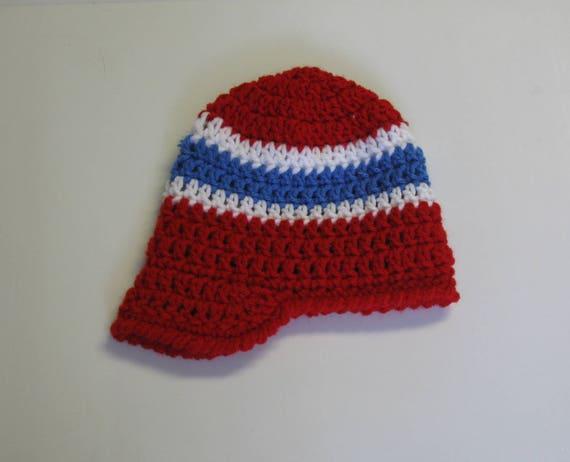 0398366b9cbd PATRON PDF No 10 Bonnet au crochet pour bébé aux couleurs du   Etsy