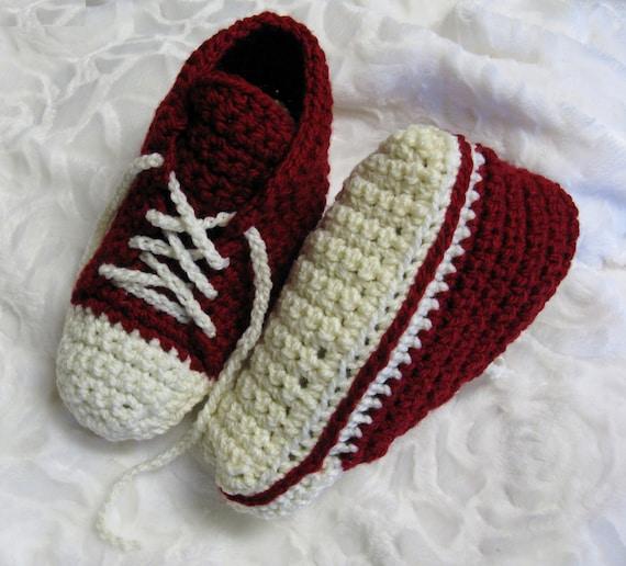Patron Pdf 46 Pantoufles Espadrilles De Style Converse Au Crochet Pour Adultes Patron Facile Explications En Français 3petitesmailles