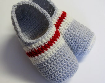 PATRON PDF No 31 Pantoufles bas de laine au crochet pour hommes explications français chaussons adulte 3petitesmailles