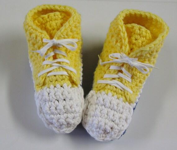 Patron Pdf 3 Pantoufles De Style Converse Au Crochet Pour Adultes Patron Facile Explications En Français 3petitesmailles