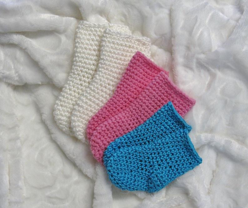 PATRON PDF No 47 Chaussettes au crochet pour bébés 0 à 12 image 0