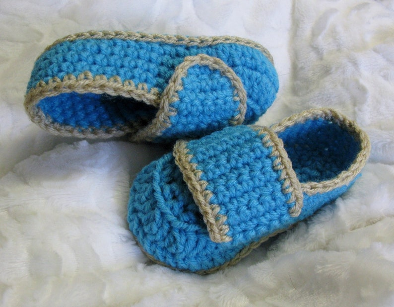 PATRON PDF 62 Loafers au crochet pour enfants 3 à 8 ans image 0
