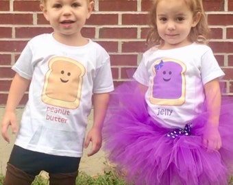 8f252a5cd9c6b Peanut Butter and Jelly Twin Outfit Set-Boys, Boy/Girl, Girls-Coupon Code  in description!