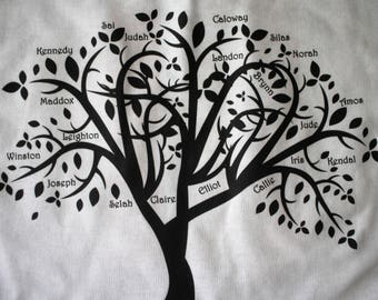 Anniversary shirt/Shirt for grandparents/Family Tree shirt/Gift for grandparents/Family names shirt/Shirt with grandkids names