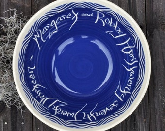 Custom Wedding Bowl, Wave