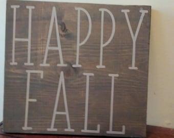 Happy Fall. Fall decor. Home Sign