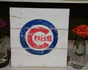 Rustic Chicago Cubs Sign