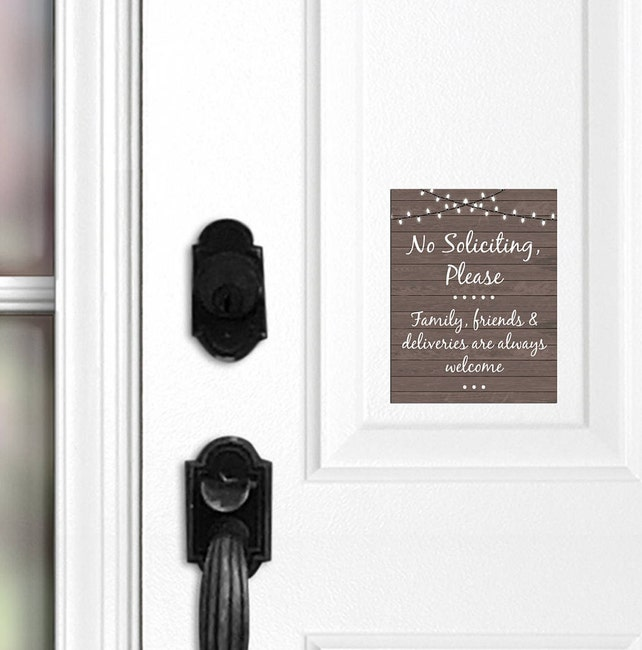 Front Door Magnet Family Friends And Deliveries Welcome Sign Etsy
