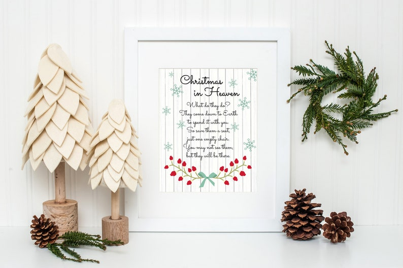 photograph relating to Christmas in Heaven Poem Printable identify Xmas in just Heaven Print, Since a person we delight in is in just Heaven, Heaven Printable, Xmas Angels, Xmas Decor, Xmas Poem, Spouse and children