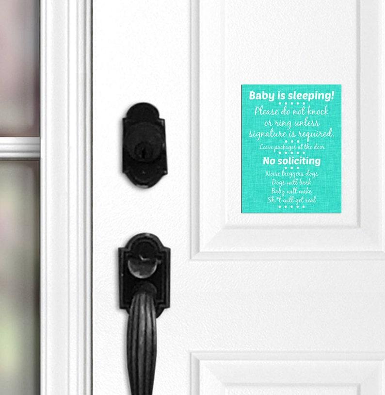 No Soliciting Door Magnet No Soliciting Door Sign Night Shift Do Not Ring Doorbell 011 Do Not Knock Baby Sleeping Sign Barking Dogs