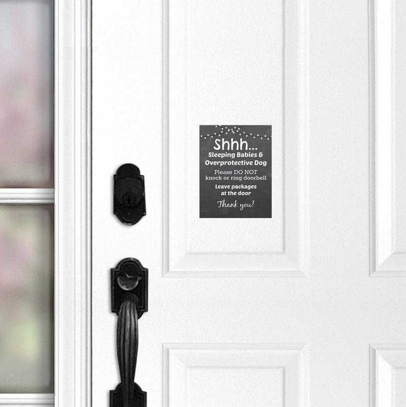 Do Not Knock Sleeping Babies Sign Overprotective Dogs Sign Door Magnet Do Not Ring Doorbell Leave Packages 006 No Soliciting Door Sign