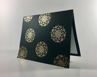 Gold Embossed Mandala Card