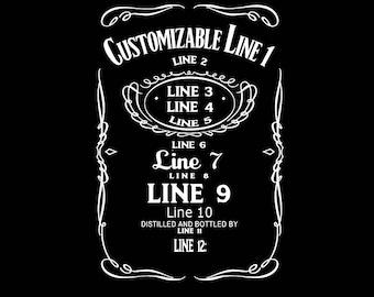 custom liquor label etsy