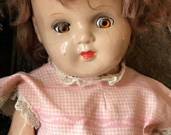 Beautiful antique composition doll