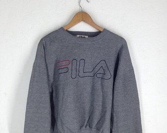 SALE 40% OFF Rare!!! Vintage Fila Big Logo Pull Over Sport Sweatshirt Hip Hop