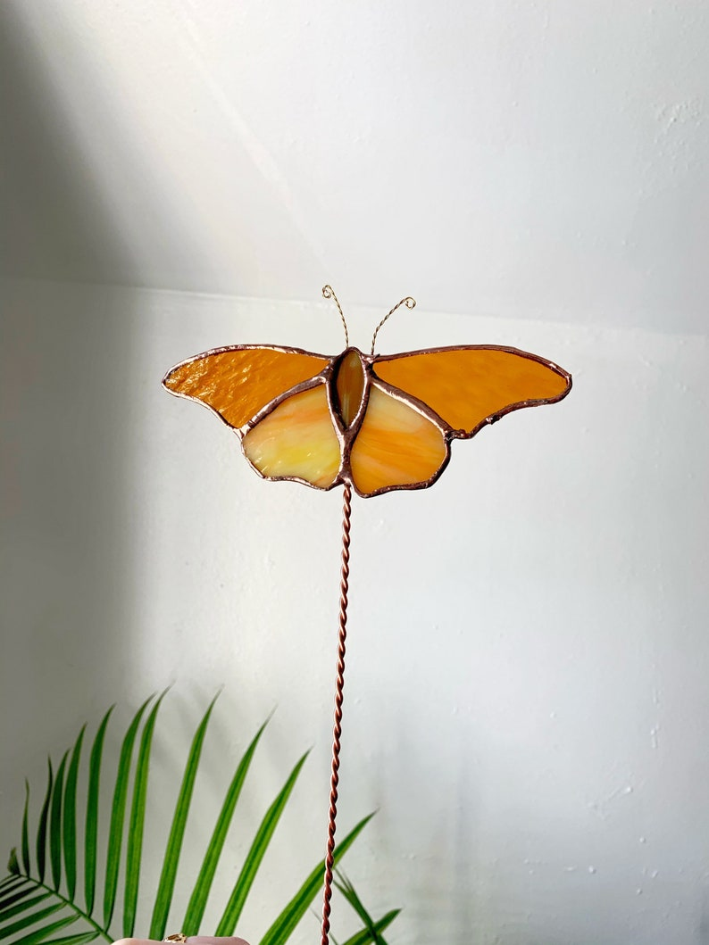 Butterfly Stained Glass Plant Stake