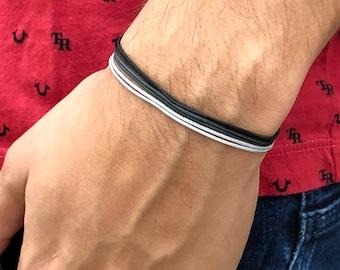 97dc2a5f15 Black cord bracelet, black string bracelet, surfer bracelet, black cord  anklet, mens surfer bracelet, Gift for Mens