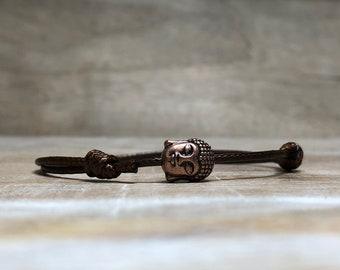 Buddha Head Bracelet Mens Gift for Mens Jewelry Brown Bracelet Spiritual Jewelry Buddha Bracelet Mens Coworker Gift for Him Birthday Gift