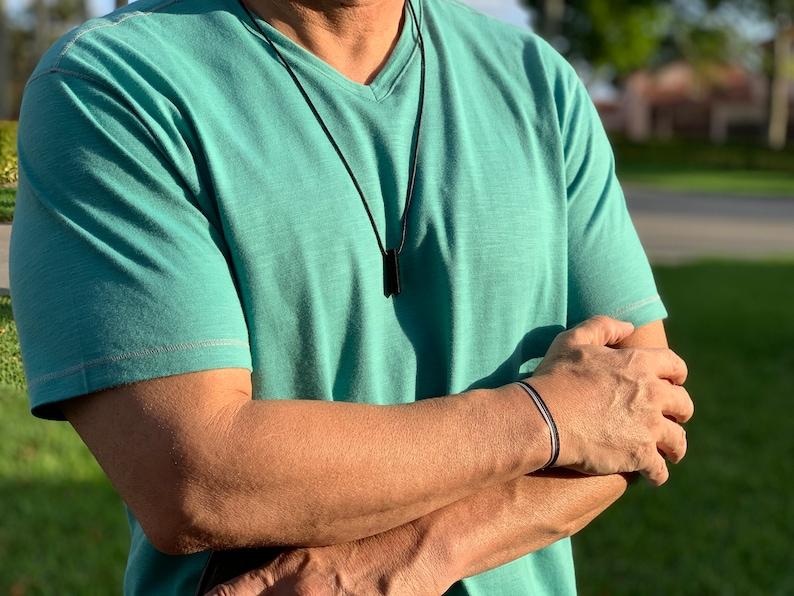 waterproof jewelry Mens beach bracelet thick men bracelet Mens cord bracelet gray cord surfer bracelet