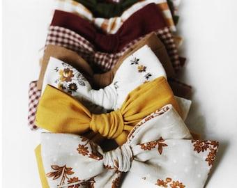 Grab Bag (10 hair bows) fall hair bows| Autumn hair bow| striped hair bow | baby headbands | toddler party favor |newborn photography prop