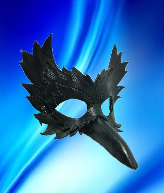 Leather Raven Mask: hand crafted original corvid crow bird   Etsy