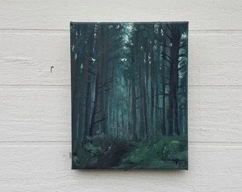 Midnight Woods Original Acrylic Painting on Canvas