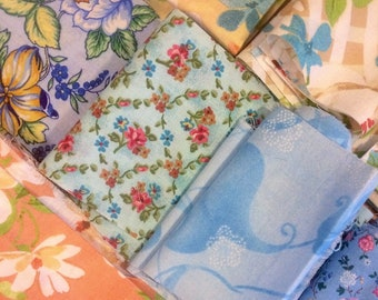 Floral Quilting Fabric Scraps