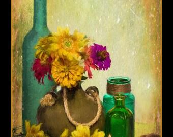 Still Life Painting,Flower Painting,Still Life Canvas,Flower Artwork,Flower Art Print,Floral Painting,Original Painting,Canvas Painting
