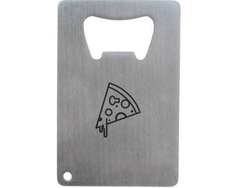 9e54a5841fc01 Pizza Bottle Opener, Stainless Steel Credit Card Size, Bottle Opener For  Your Wallet, Credit Card Size Bottle Opener