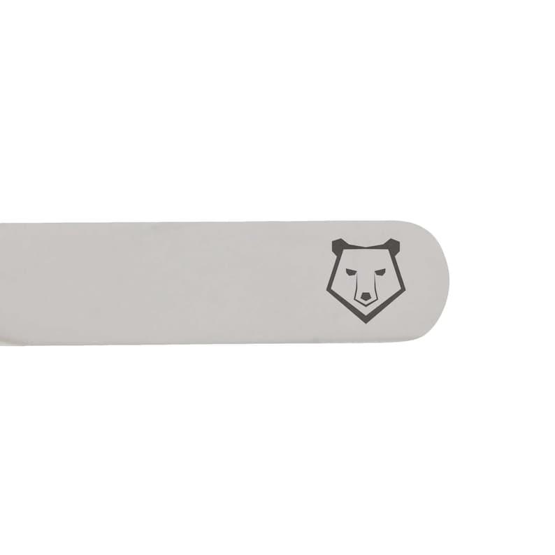 Polar Bear Face Stainless Steel Collar Stays