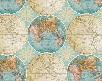 Globe map fabric etsy studio vintage globes cotton fabric by the yarddavid textilesfree shipping availablemap fabricworld fabricworld mapvintageyour fleece gumiabroncs Gallery