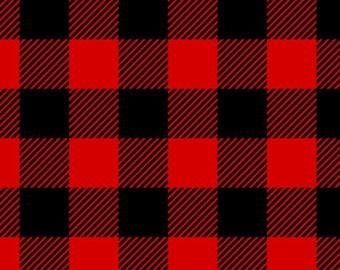 Buffalo Plaid Flannel Fabric By The Yard