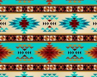 Tribal Stripe Fleece Fabric, 1.5 Yard PRECUTS