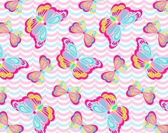 Butterflies Minky Fleece Fabric By The Yard