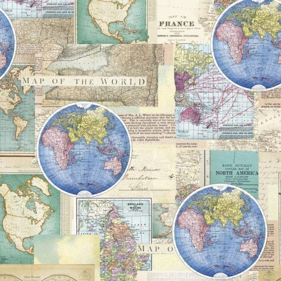 Vintage cartography cotton fabric by the yarddavid textilesfree vintage cartography cotton fabric by the yarddavid textilesfree shipping availablemap fabricworld fabricworld mapvintageyour fleece from yourfleece gumiabroncs Image collections