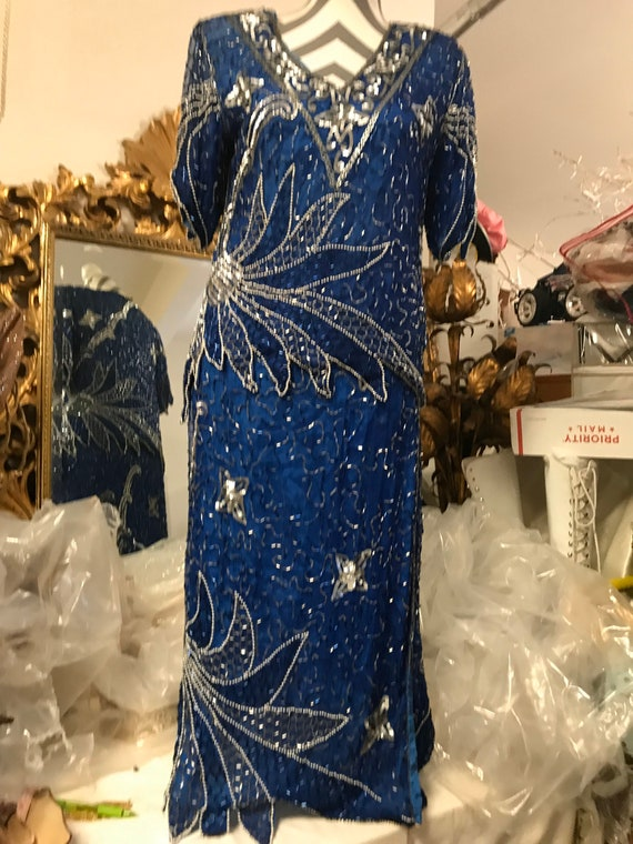 1980's Blue Two Piece