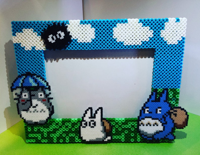 My Neighbor Totoro Perler Bead Collage Frame Etsy