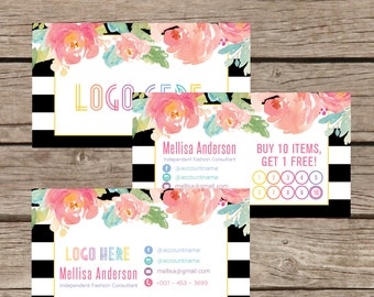 Printable Business Punch Card, Business Card Cards Buy 10 Get 1 Free, Free Leggings Style Marketing Card Digital File LLR029