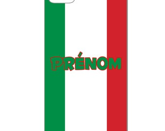 IPhone case - Italy with custom name - 3D Iphone 4 / 4s - 5 / 5 S - 5 c - 6 / 6 S - 6 more-7/8-7 more