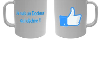 Cup mug I'm a doctor who rocks! Blue