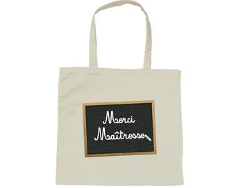Tote bag white bag table thank you teacher - kindergarten, elementary school