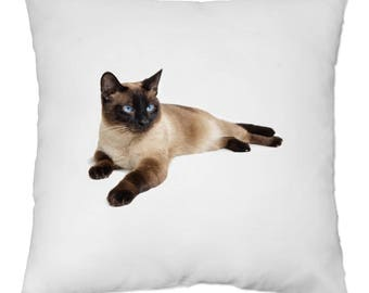 Cover cushion 40 x 40 cm - Siamese cat - Yonacrea