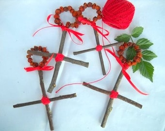 ROWAN CROSS Four Crosses For The Elemental Corners Of Your Dwelling-Protection-Peace Of Mind-Perfect for Gift Giving!