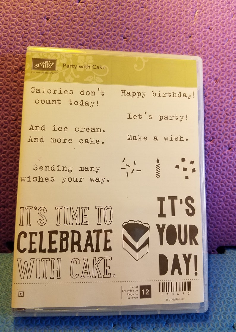 FREE SHIP Celebrations COOL!! Party with Cake Stamp Set /& Party Pop-up Thinlits Die Bundle -Retired Stampin/' Up New Festive Birthday
