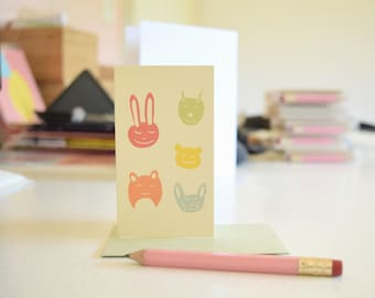 Mini stationery set etsy mini note card set cute mini cards tiny gift cards note cards for gifts kawaii cards kids stationery pink pencil little friends gumiabroncs Images
