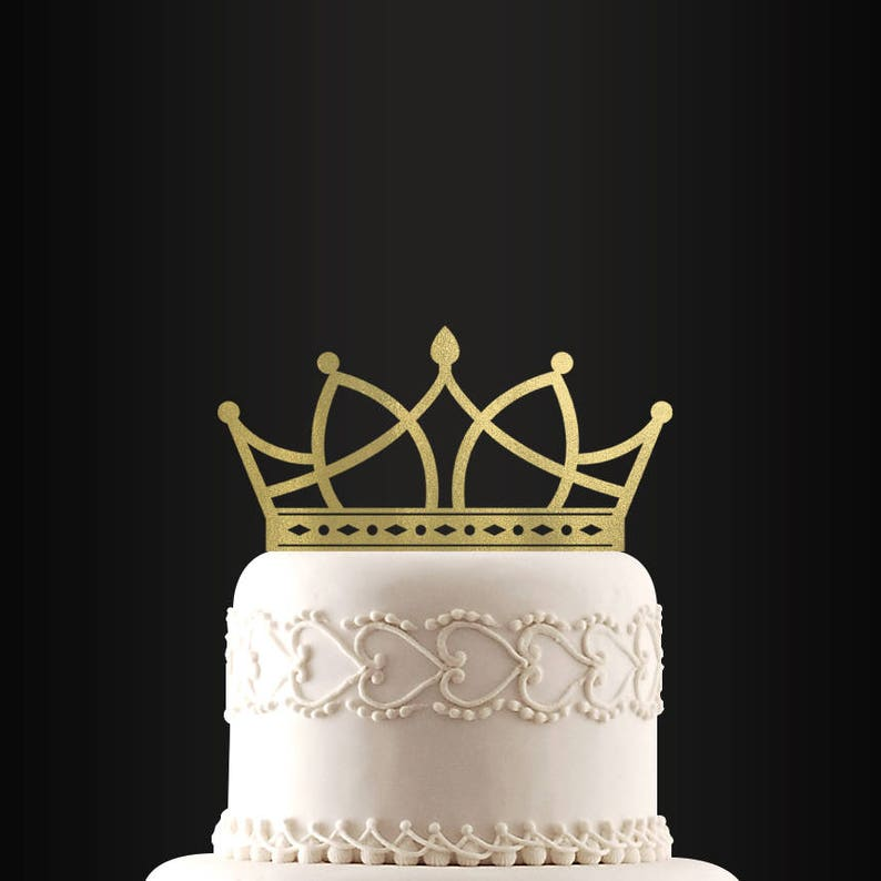 Tiara Cake Topper Wedding Cake Topper Birthday Cake Topper Etsy