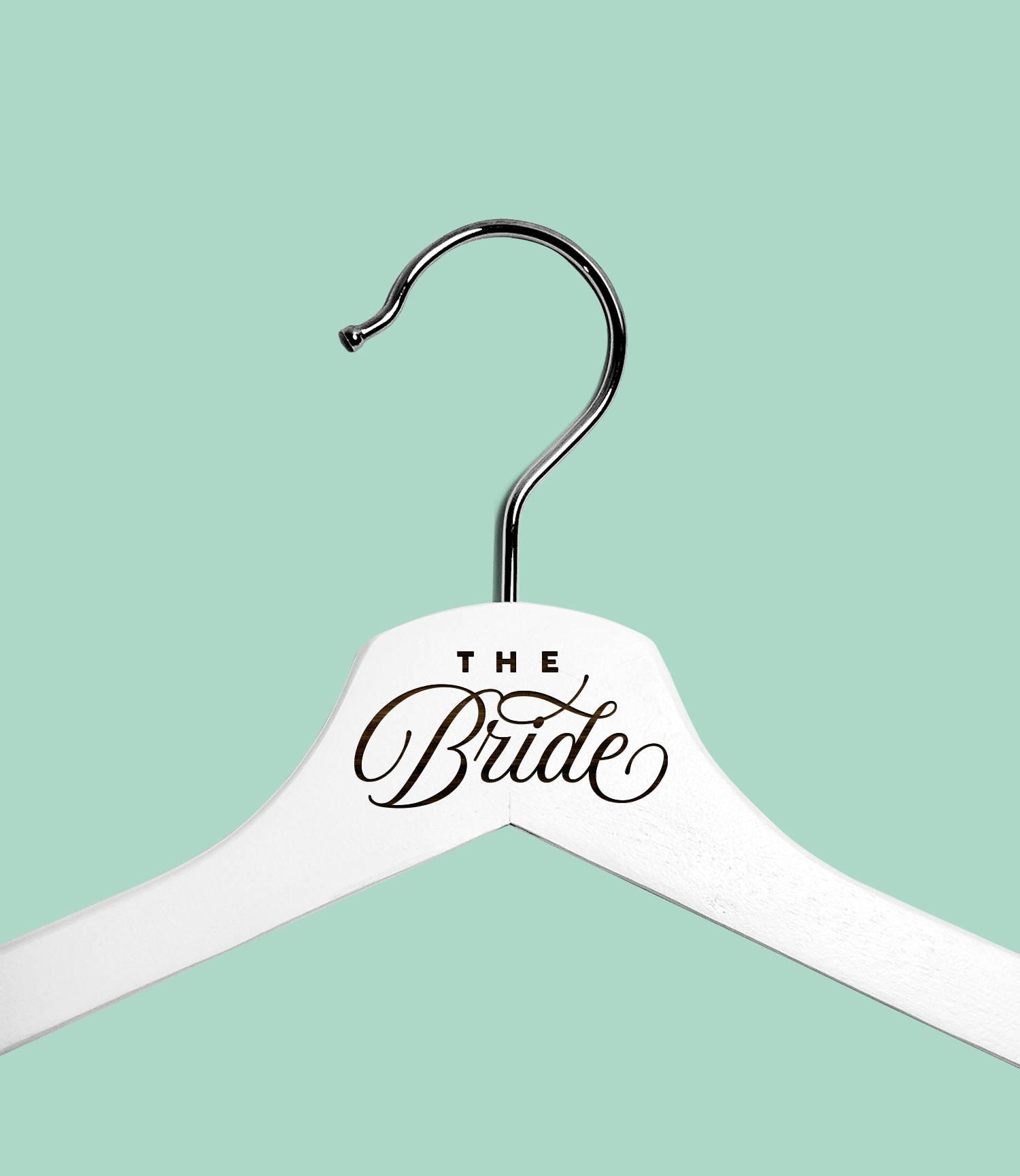 White Wedding Dress Hanger: White Wedding Dress Hanger Personalized Wedding Hangers